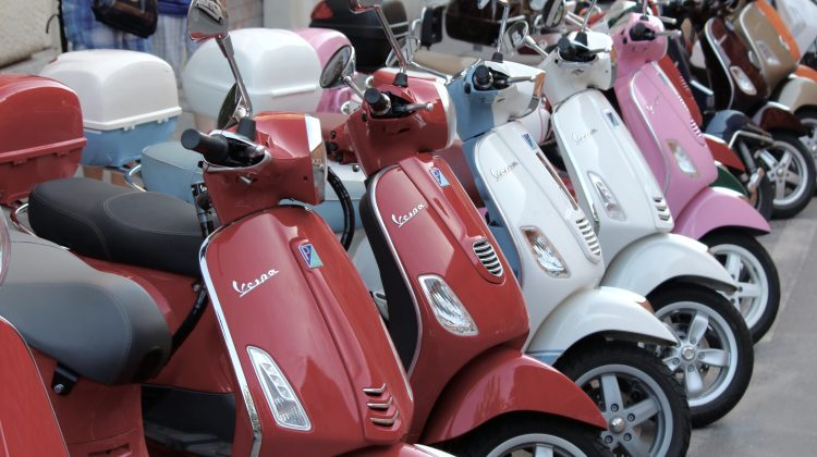 Vespa scooters